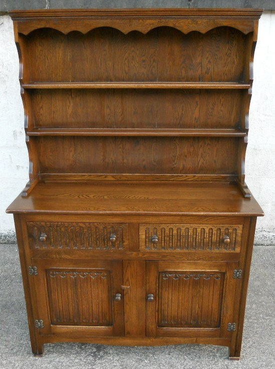 upper kitchen cabinets what is the average cost of a remodel sold - antique jacobean style oak reproduction welsh dresser